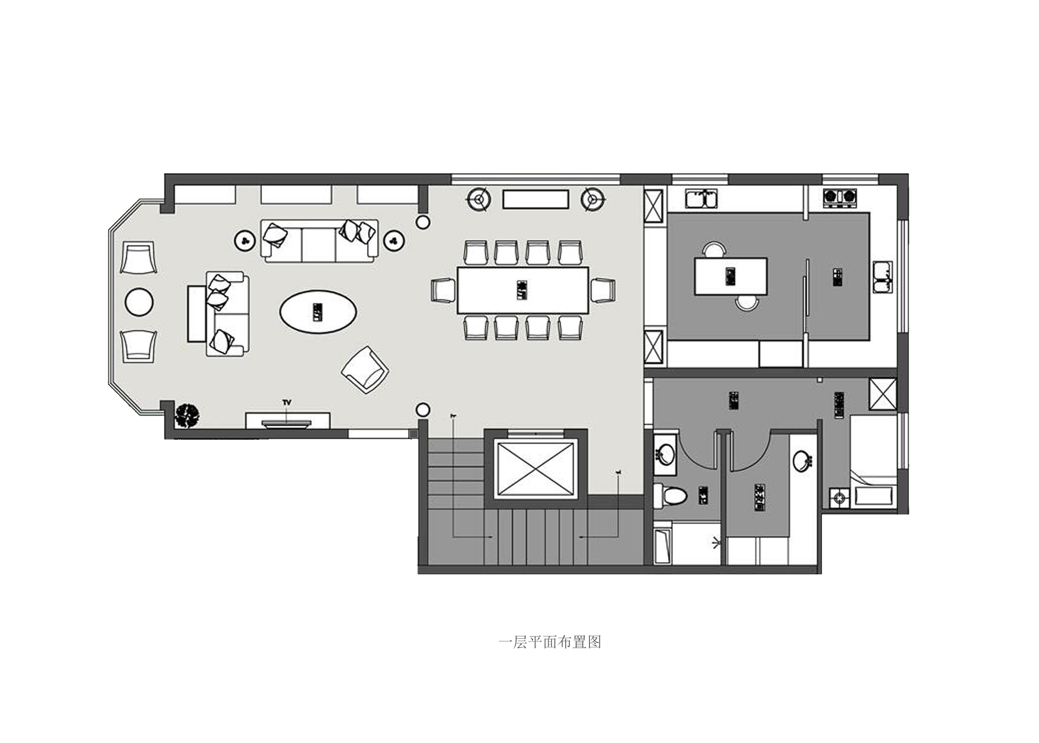 香江北岸花园别墅-600平米-现代美式主义-装修效果图装修设计理念