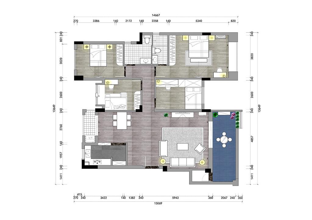 【實景圖】東城鼎峰尚境115㎡歐式三房二廳實景裝修設計理念