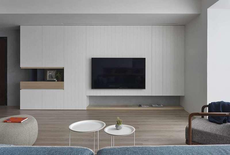 76㎡北歐風老房翻新改造客廳裝修效果圖