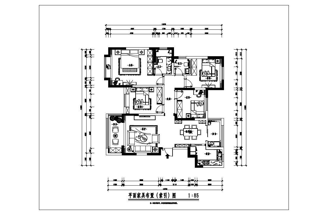 振业泊岸 现代简欧风格装修效果图 四室两厅 152平米装修设计理念