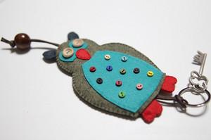 零基础布艺DIY工坊 教你做超萌猫头鹰钥匙包