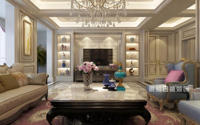 9套色彩搭配漂亮的欧式客厅电视墙装修效果图一览无余