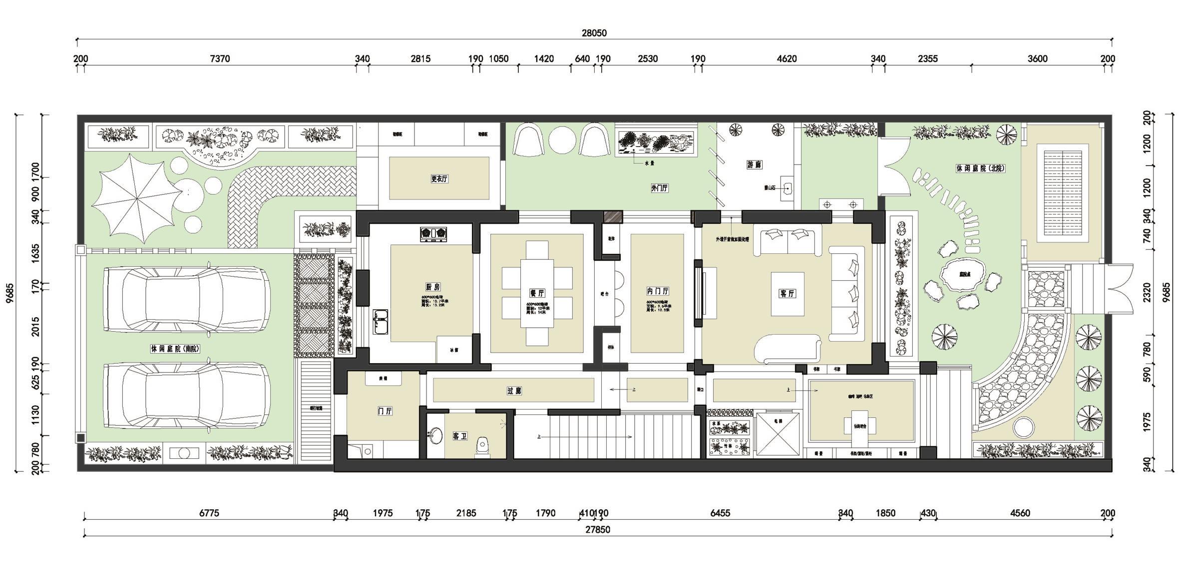 观澜墅-300平米-简美风-装修效果图装修设计理念