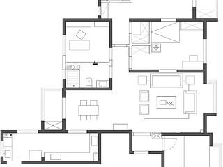 审计局家属院-172平米-新中式风格-四室两厅一厨两卫