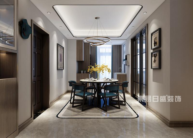 180平米三室两厅装修图片_餐厅吊灯
