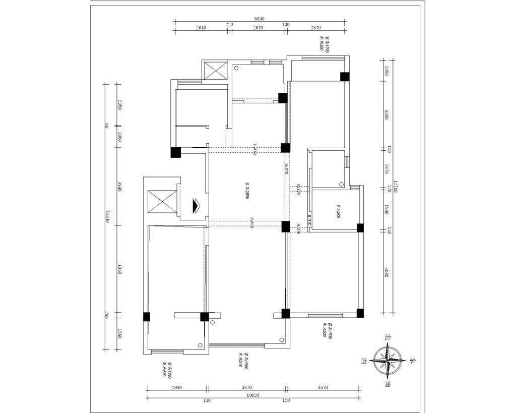 檀溪公馆 新中式装修效果图 165平米 三室两厅装饰设计装修设计理念