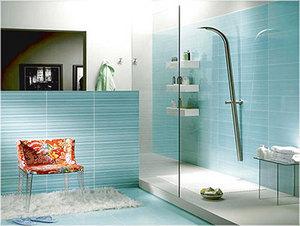 贴砖有新意,彩色瓷砖令浴室妙趣横生