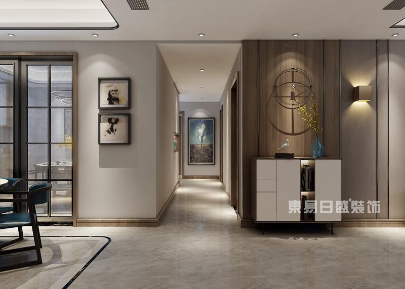 180平米三室两厅装修图片_过道走廊
