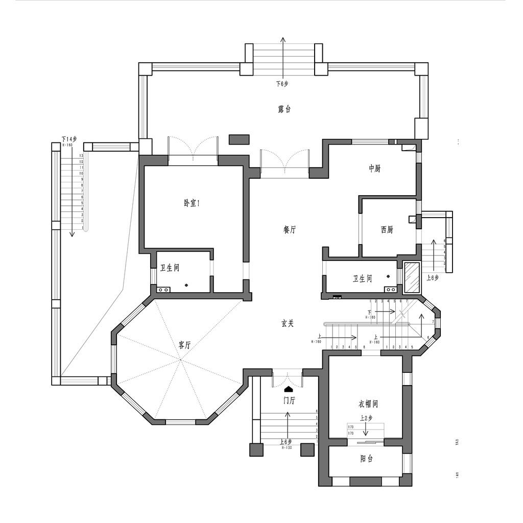 {清浅时光}香水湾-美式风格-500平米装修设计理念
