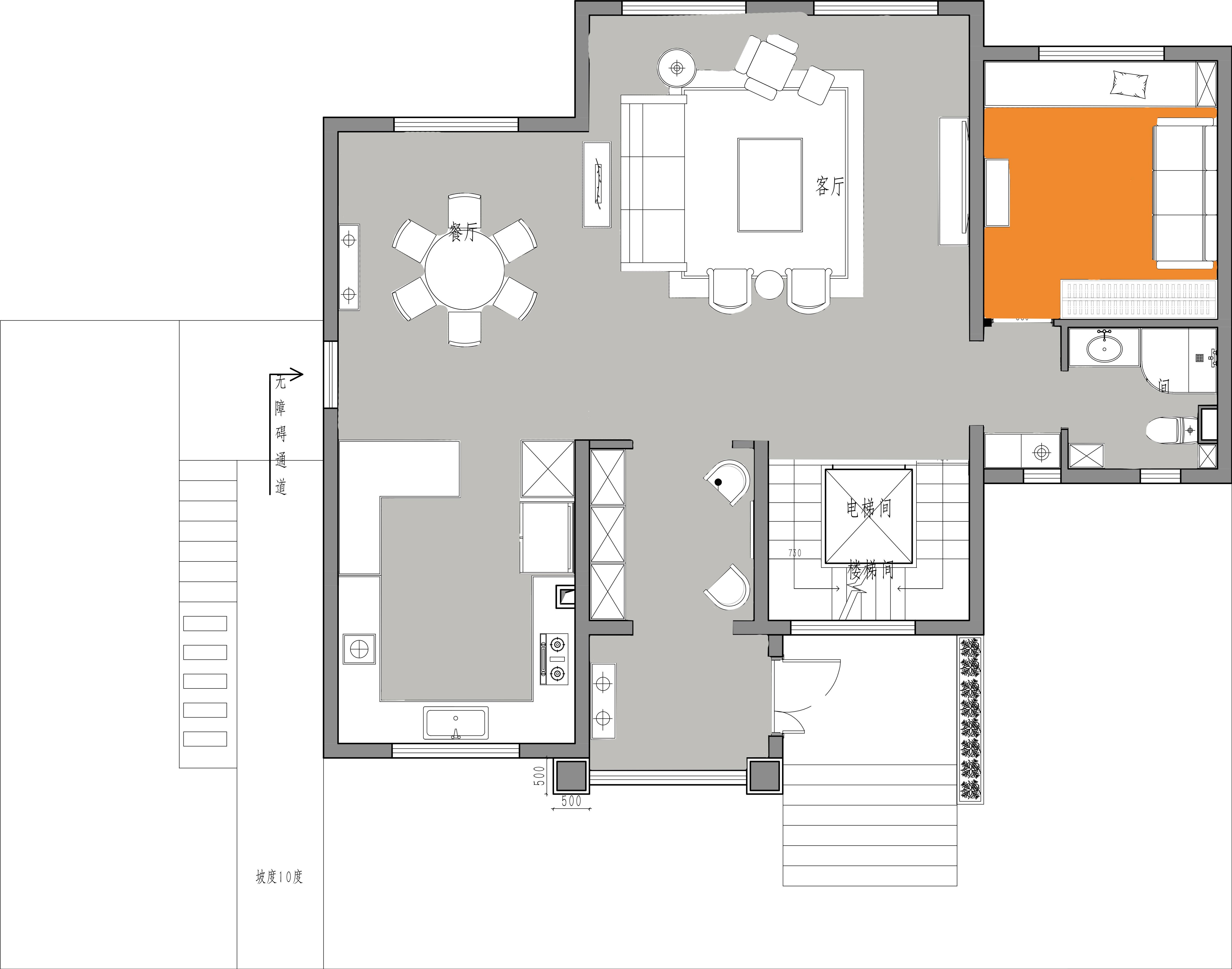 绿洲湾8号-380平米-现代极简装修设计理念