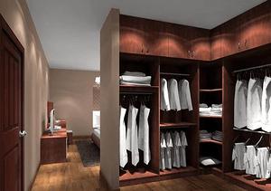 最好看的三种衣帽间衣柜设计方案 衣帽间衣柜设计注意事项