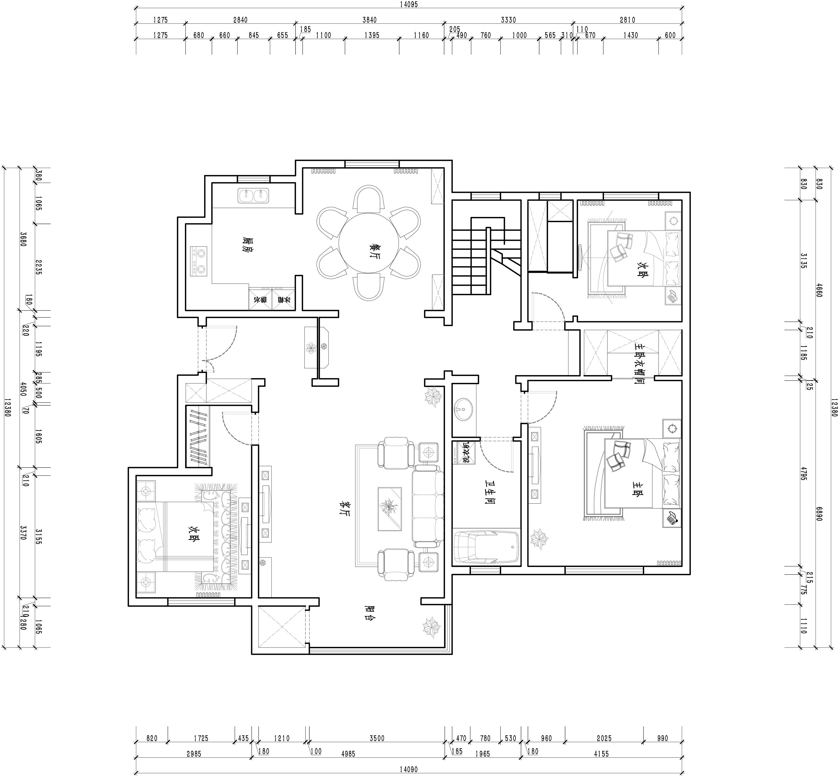长河玉墅-500平米-新古典装修设计理念