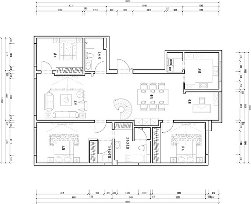 平语山观墅-168平米-法式装修设计理念