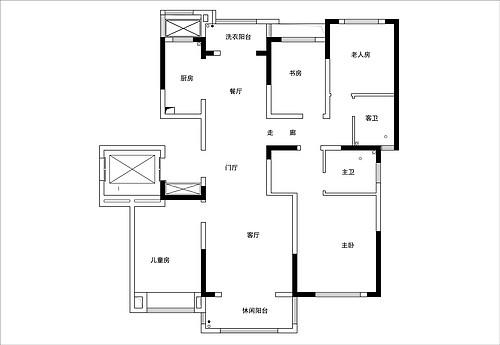 碧源月湖北欧风格142㎡平层装修设计理念
