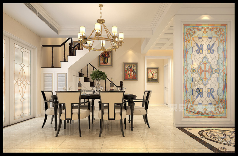 鸿基紫韵 200平复式楼客厅装修效果图 复式260