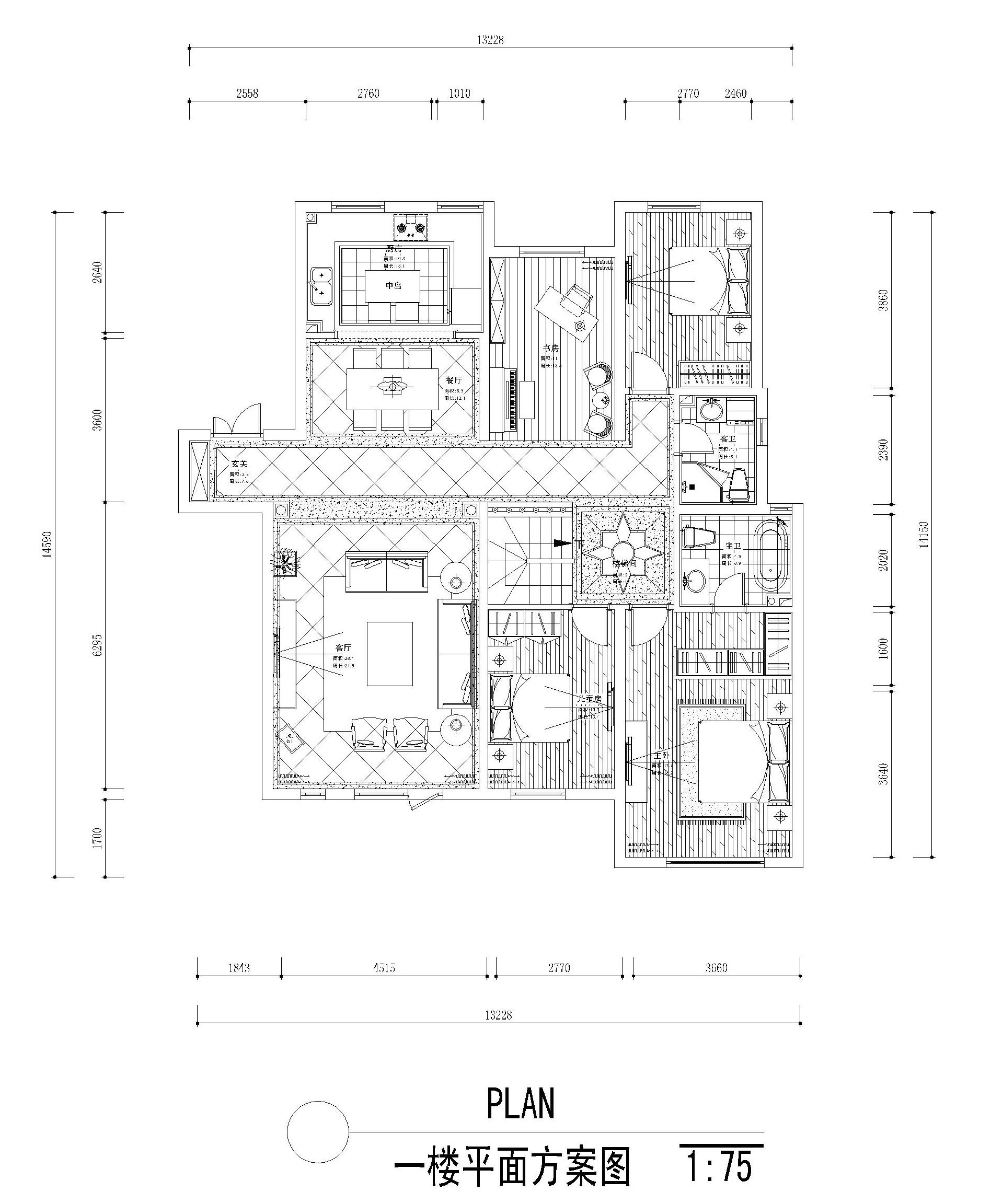 名流公馆260平新古典风格效果图装修设计理念