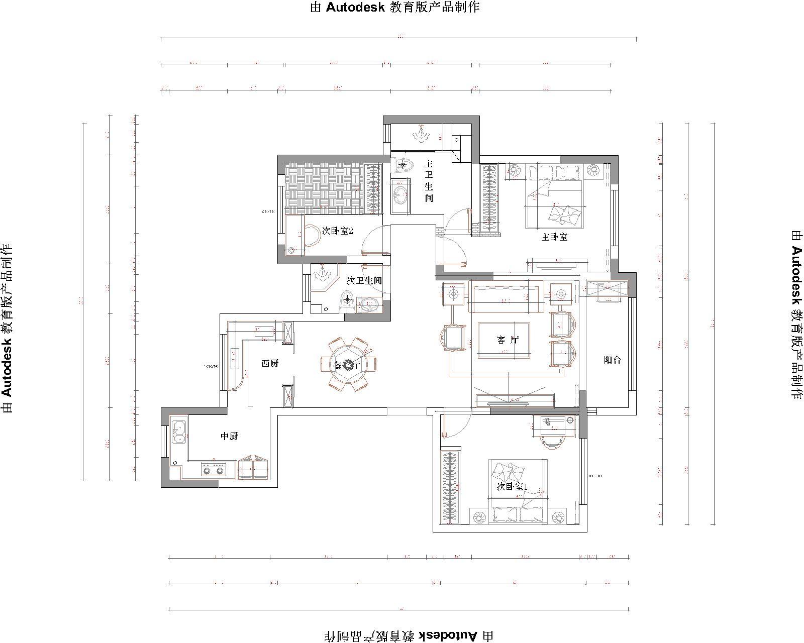 海德堡 140㎡ 中式风格装修设计理念