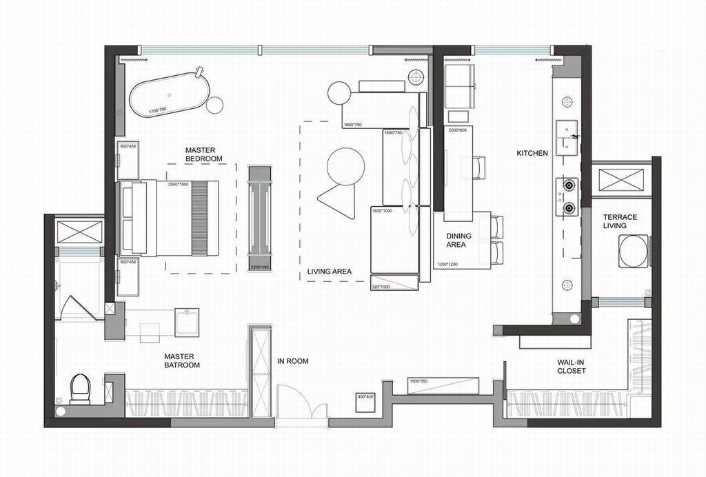 阿曼寓所-现代简约-70平米装修设计理念