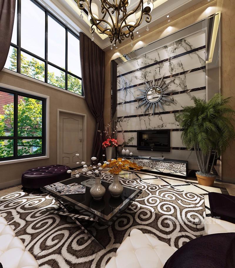 200平复式楼客厅装修效果图