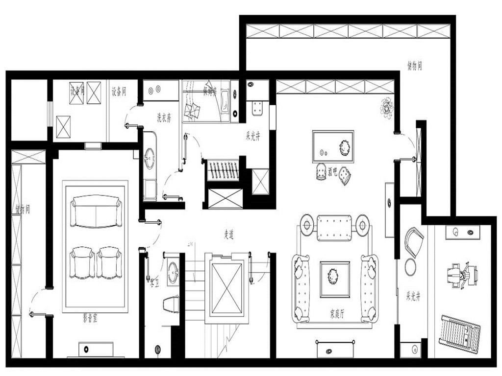 兴创屹墅  350m² 法式古典装修设计理念