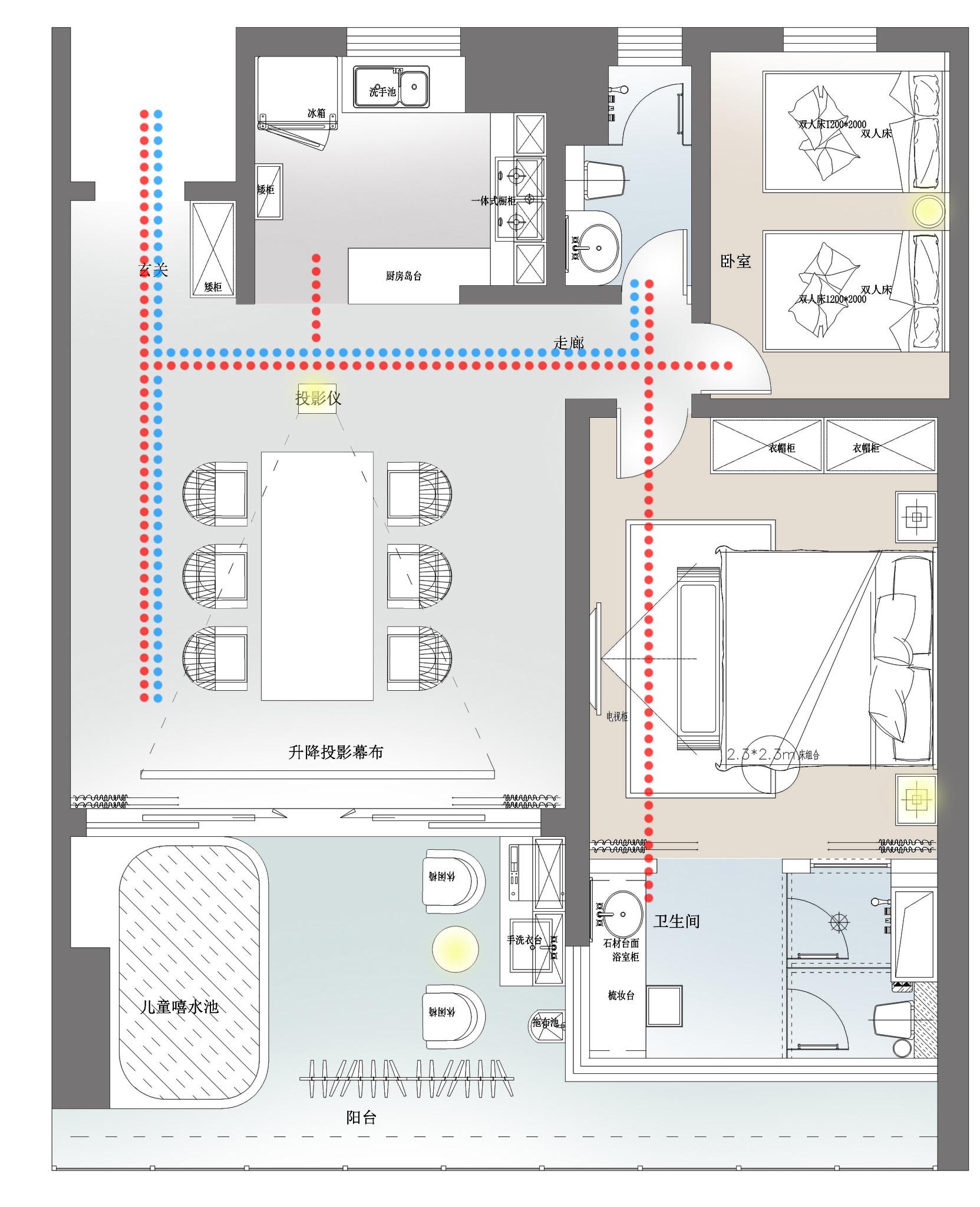 半山半岛-简约风格-100平米装修设计理念