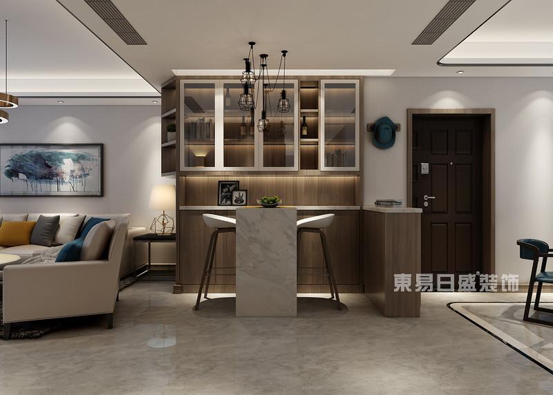 180平米三室两厅装修图片_吧台