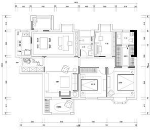 招商公园1872-新中式风格-140平米-复式别墅