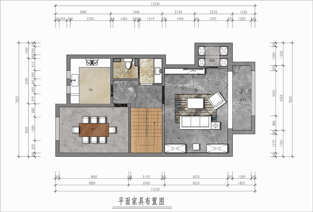 美丽园 140平 中式装修设计理念