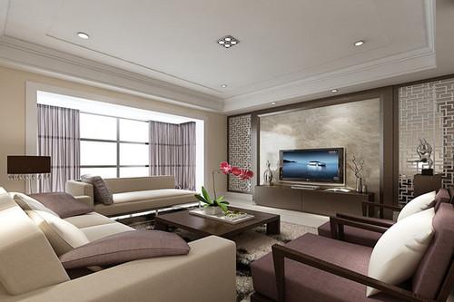 白金会日盛新中式客厅