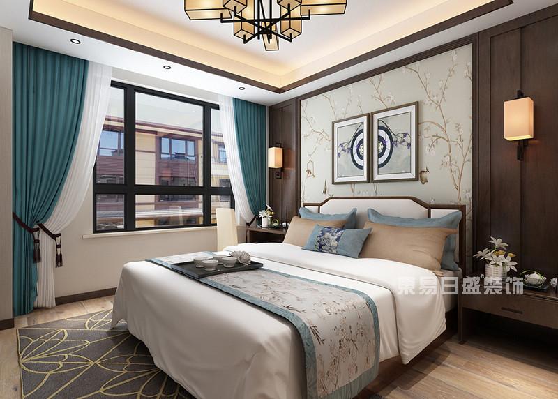 卧室新中式风格装修,骨子里的雍容富贵!