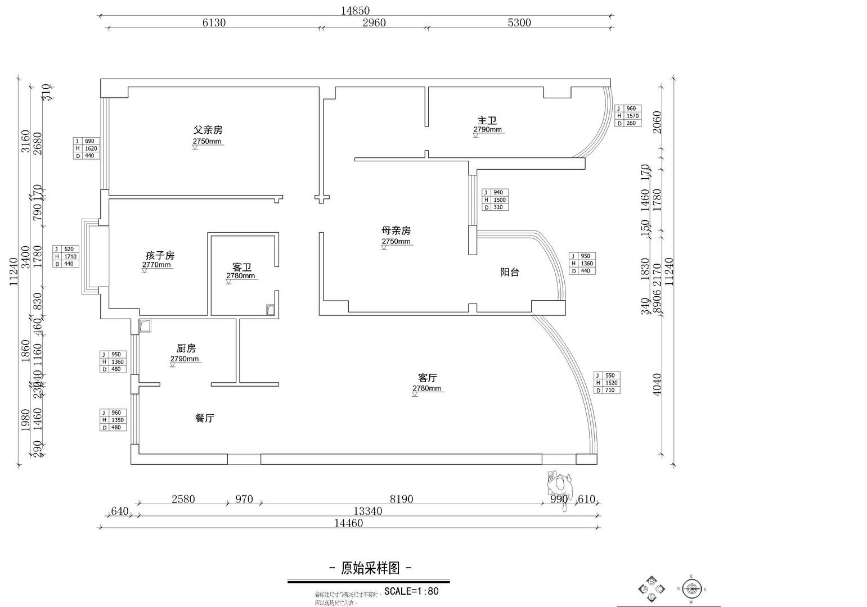 康利城-180平米装修-新中式风格设计案例装修设计理念