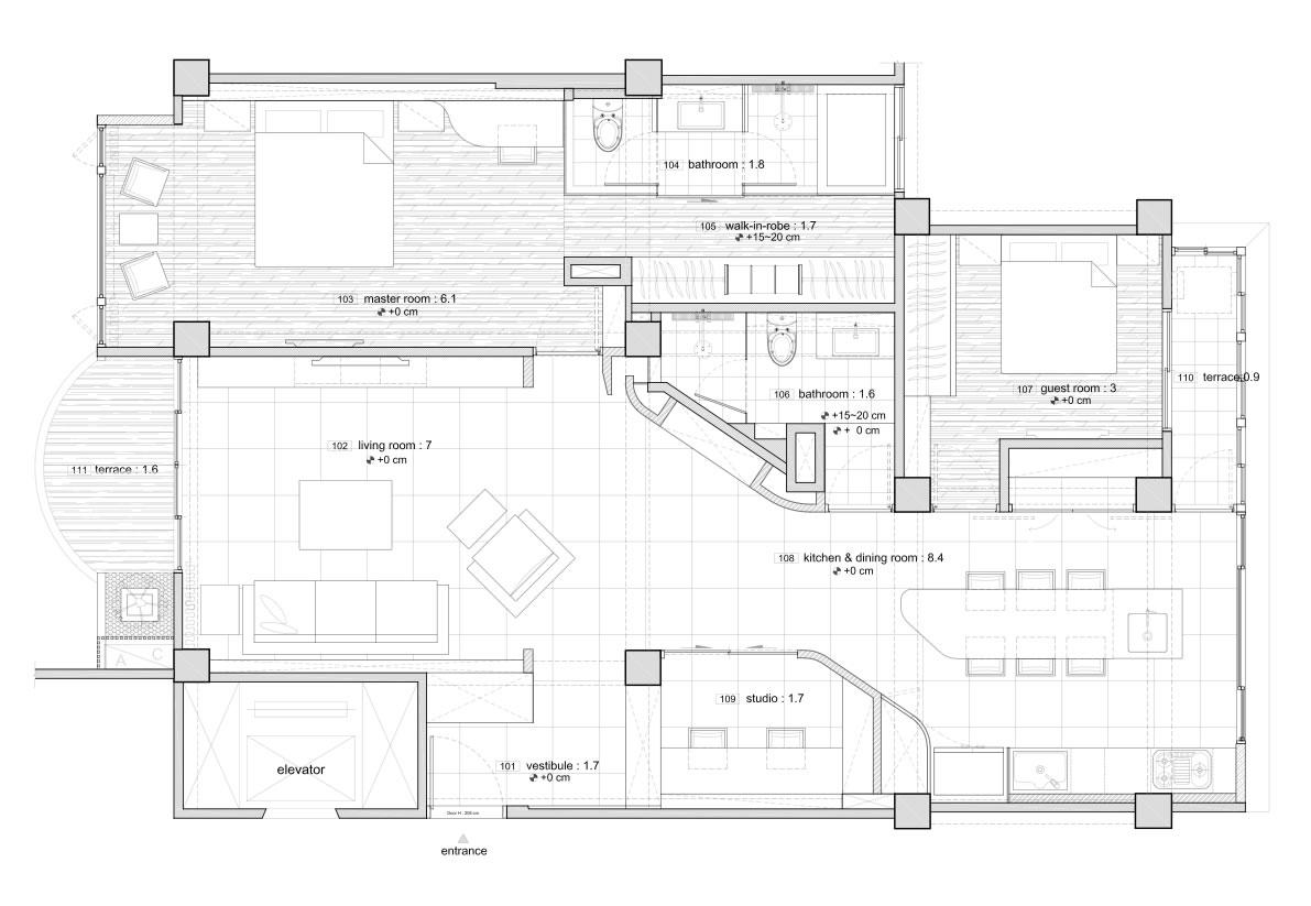 首城国际-现代简约-100平米装修设计理念