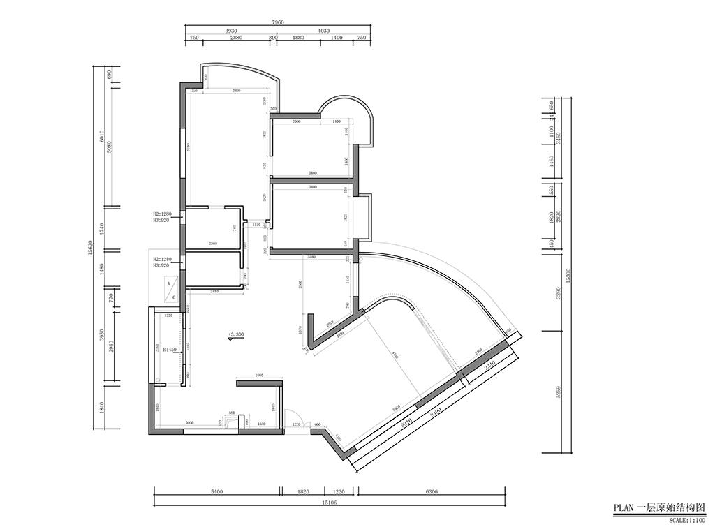 御景东方花园-新古典280平-装修效果图装修设计理念