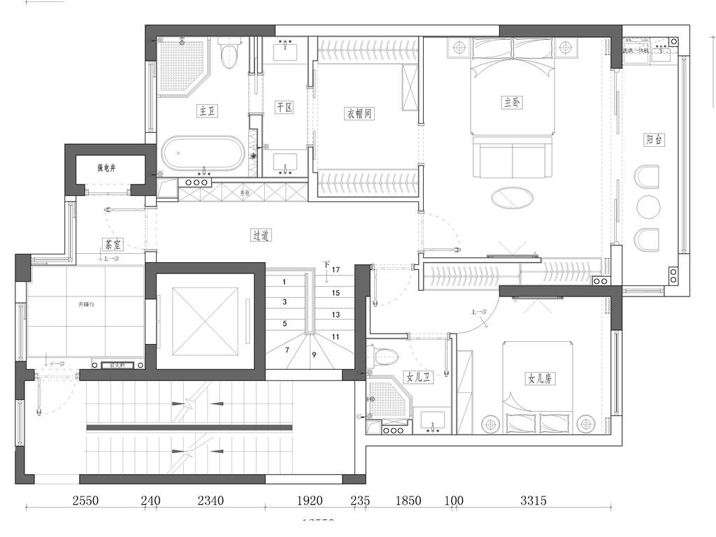 学院路7号188平现代轻奢跃层装修设计效果图装修设计理念