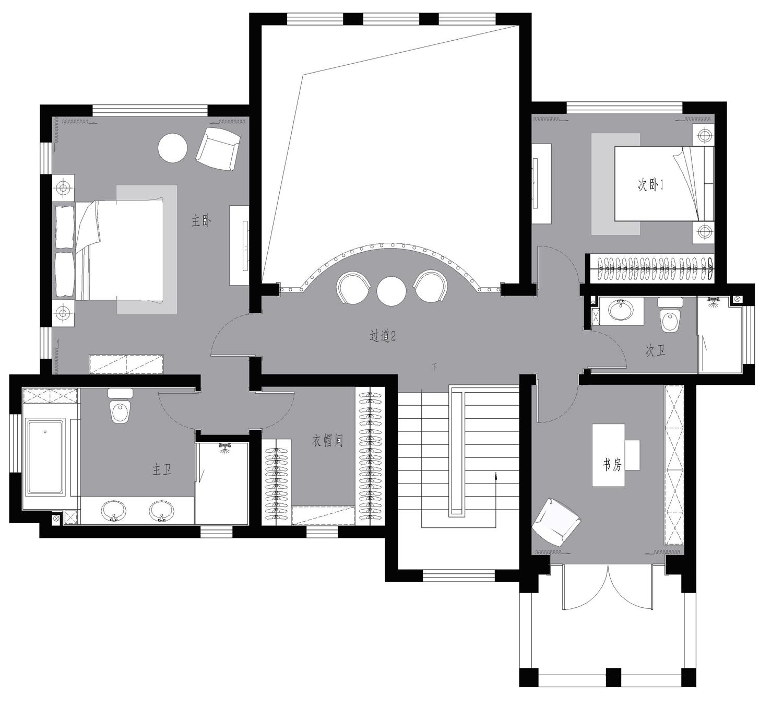 一渡新新小镇-欧式古典-360平米装修设计理念