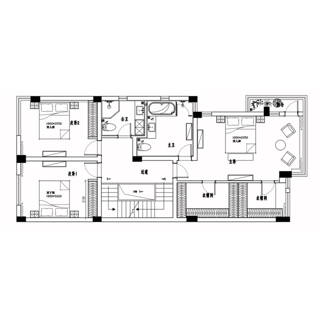 温江水韵尚城450㎡别墅现代简约风格案例装修设计理念