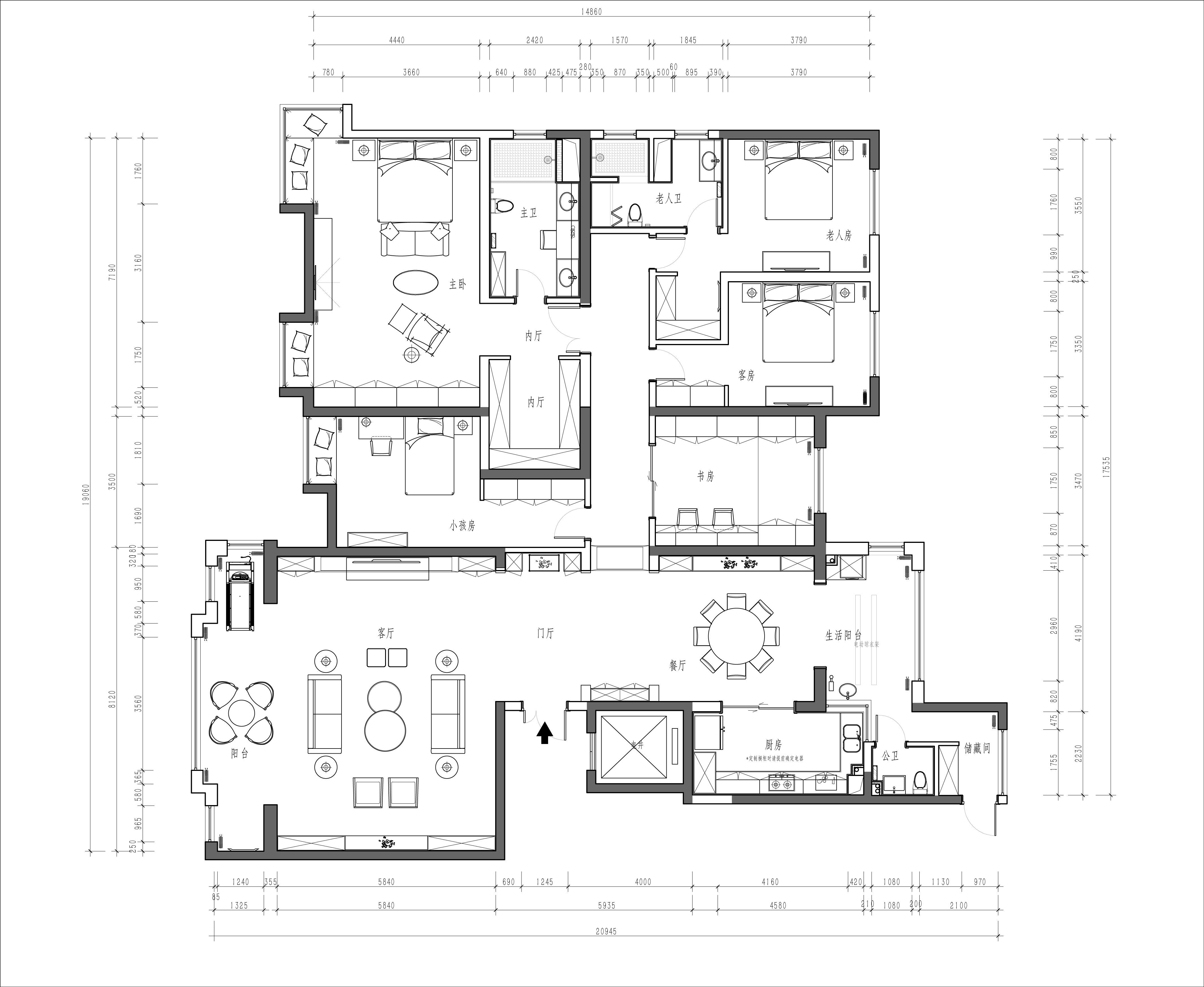 碧桂园-330平米-现代简约风格装修案例效果图装修设计理念