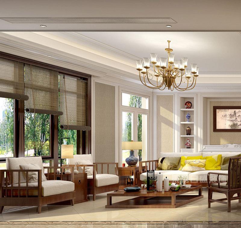 400平米别墅装修设计图,感受现代中式风的豪华
