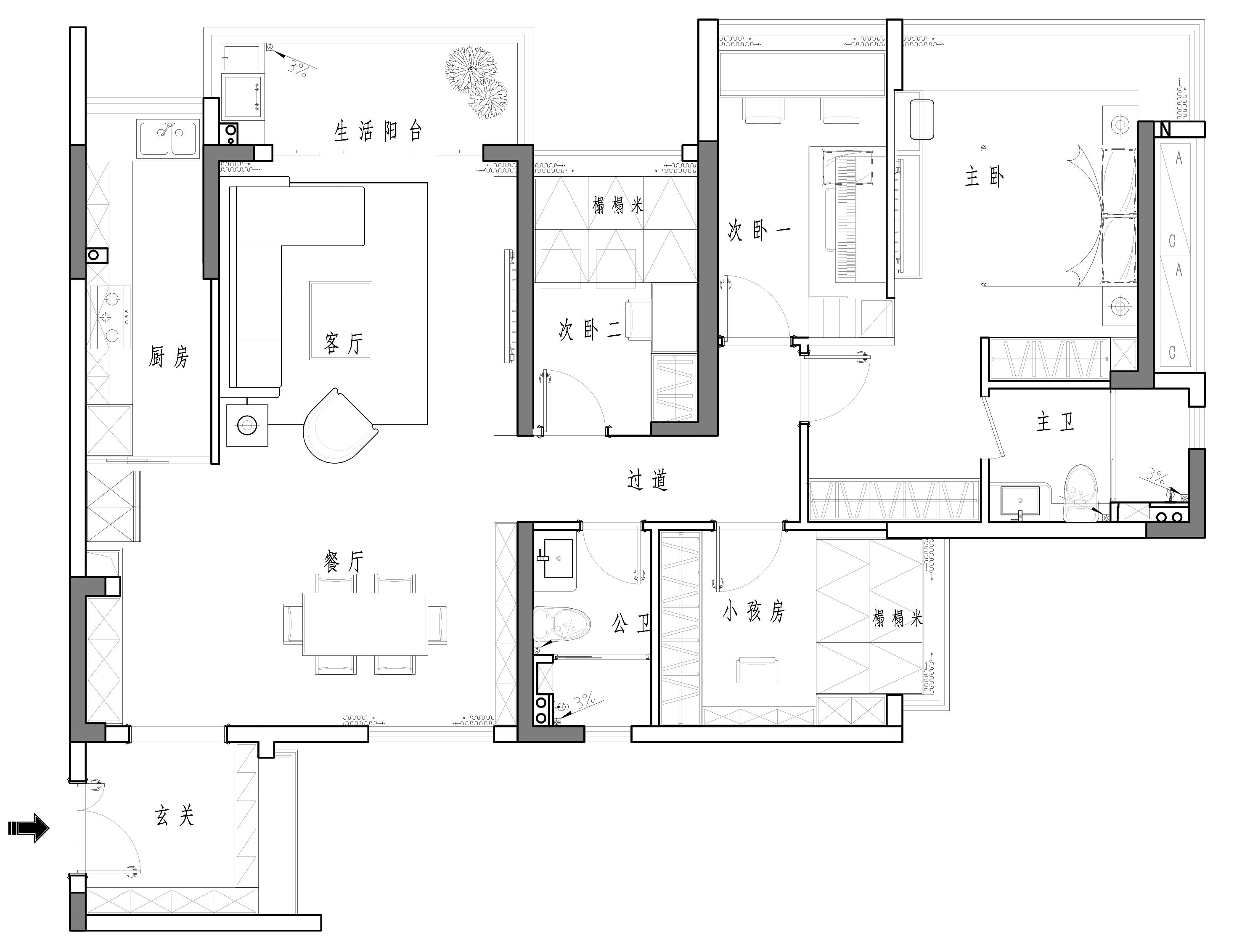深业东岭-现代简约风格案例-125平米新房装修装修设计理念