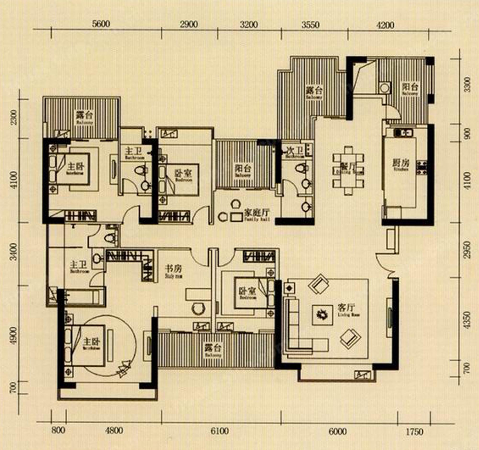 浪琴半岛150平米-现代简约装修设计理念