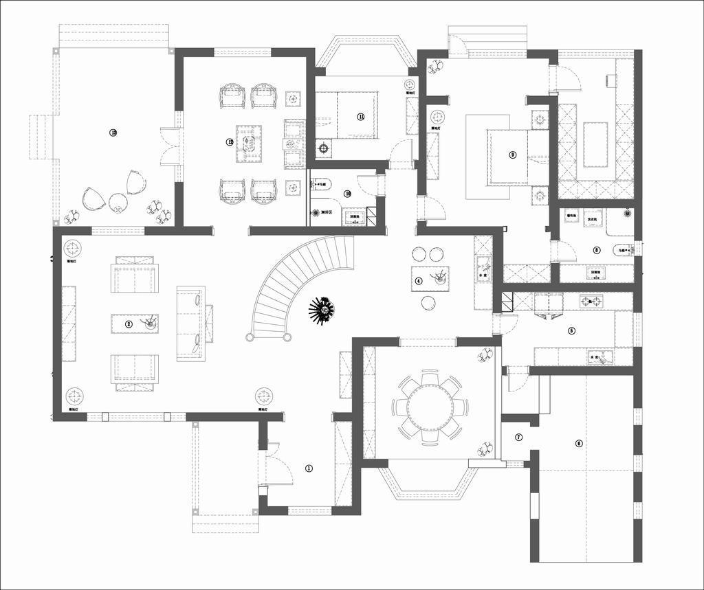 上京熙园-现代美式-400平米装修设计理念