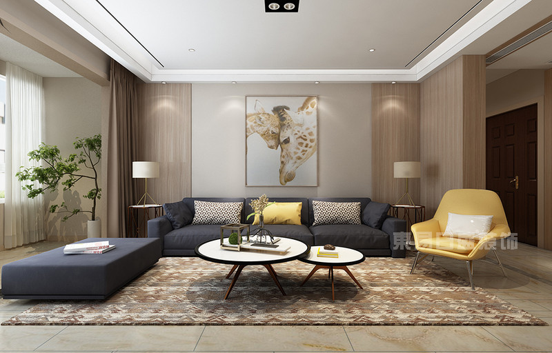 6套丹轩梓园现代简约客厅装修图片欣赏