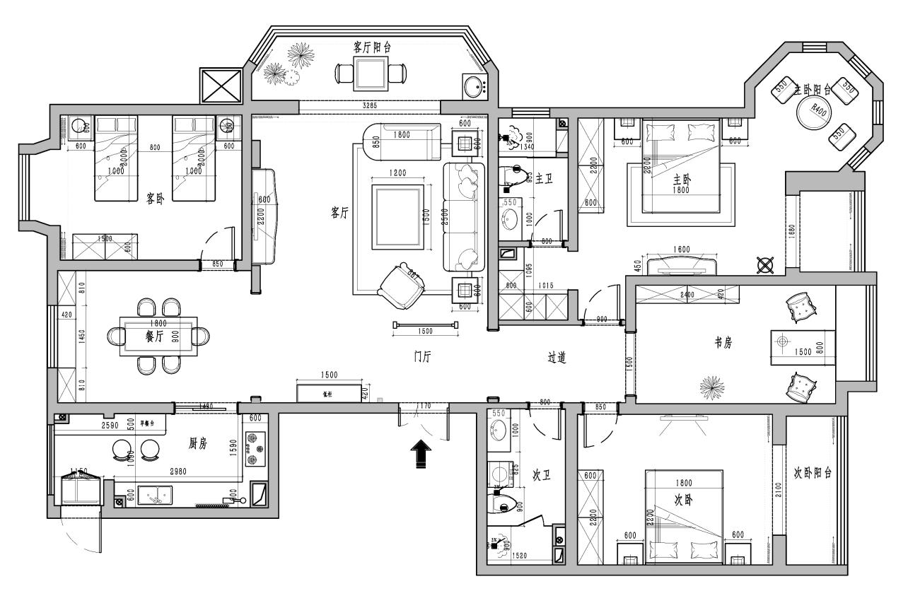 湖滨晋庭中式220平米装修效果图装修设计理念