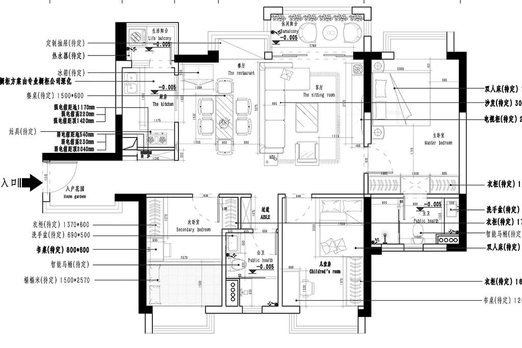 东莞东城凯晟景园-108㎡现代轻奢三房二厅装修效果图装修设计理念