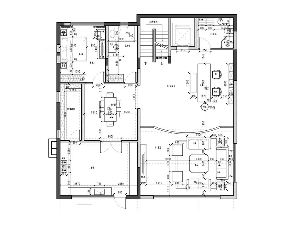 198-新古典风格-900㎡装修设计理念