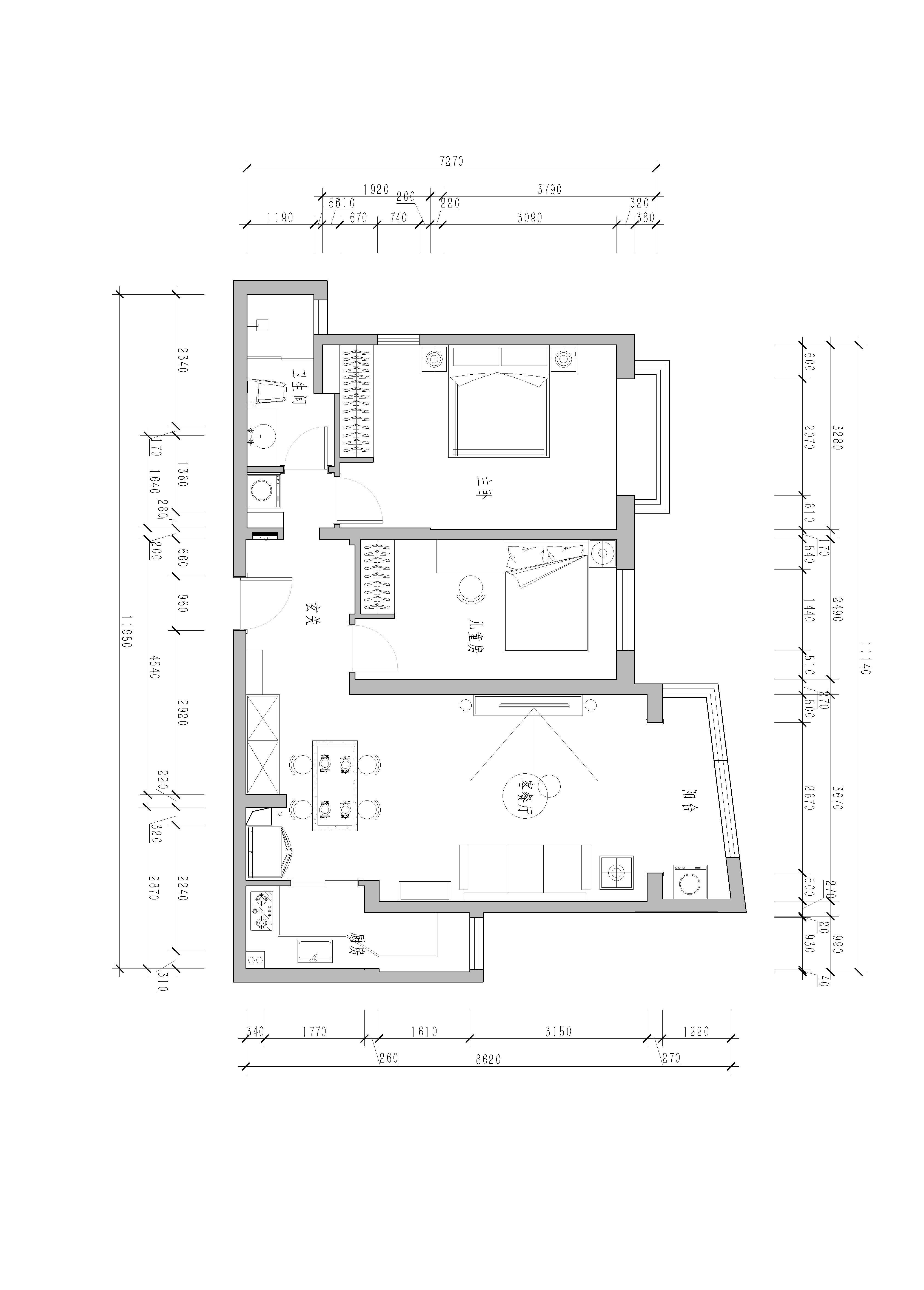 天之骄子-75平米-美式装修设计理念