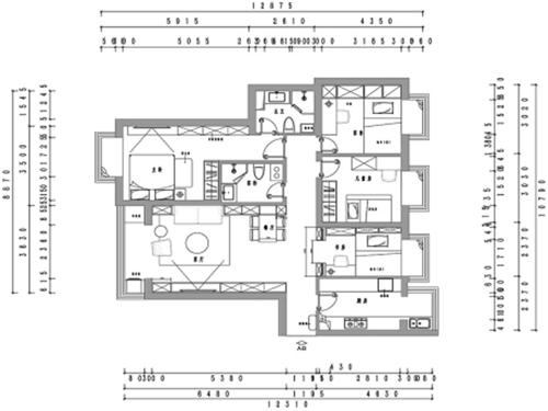华纺易城-100平米-北欧装修设计理念