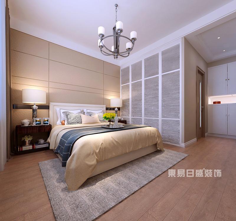 140平米三室两厅装修效果_主卧室_东易日盛案例