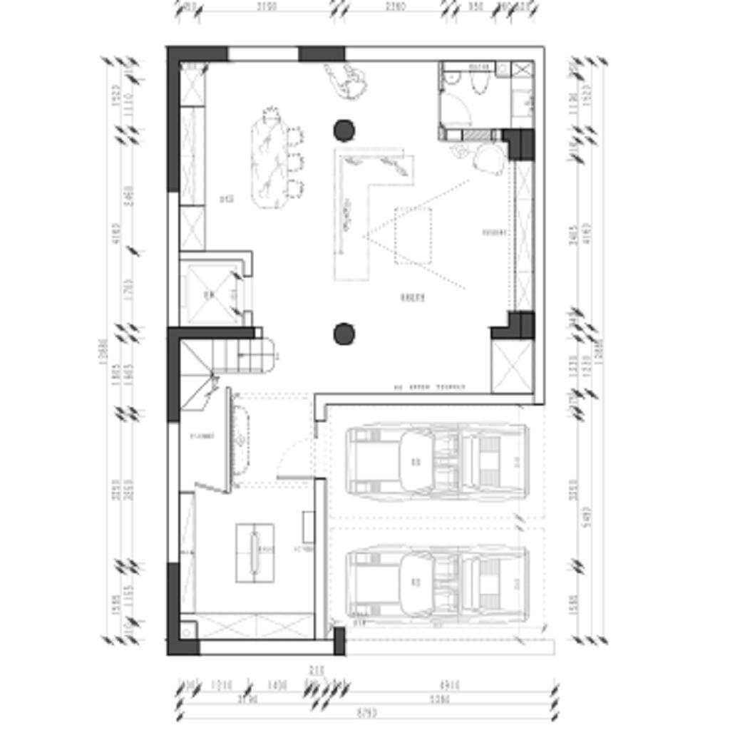 上海大城小院350平大都会风格凯旋门国际效果图装修设计理念
