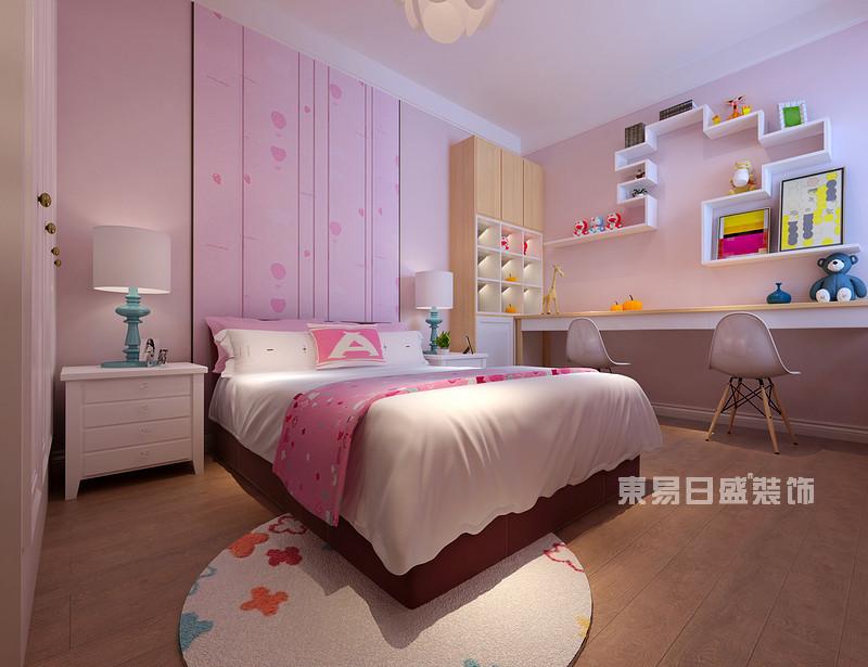 140平米三室两厅装修效果_儿童房_东易日盛案例